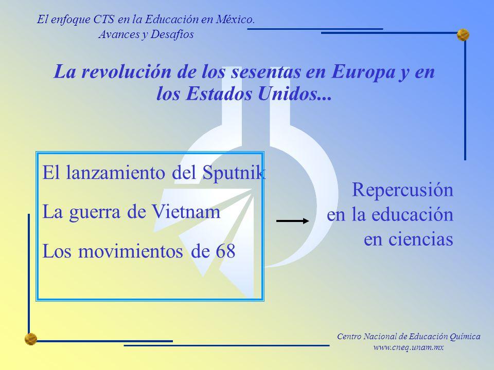 La revolución de los sesentas en Europa y en los Estados Unidos...
