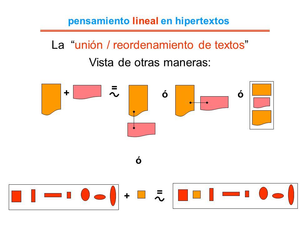 pensamiento lineal en hipertextos