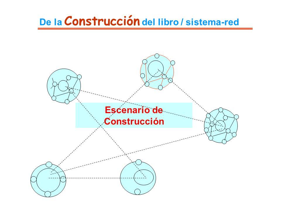 De la Construcción del libro / sistema-red Escenario de Construcción
