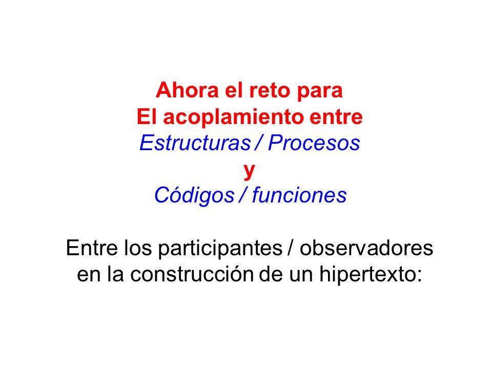 Estructuras / Procesos y Códigos / funciones