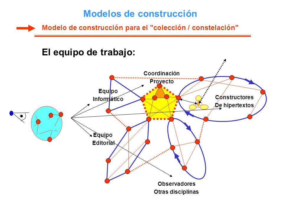 Modelos de construcción El equipo de trabajo: