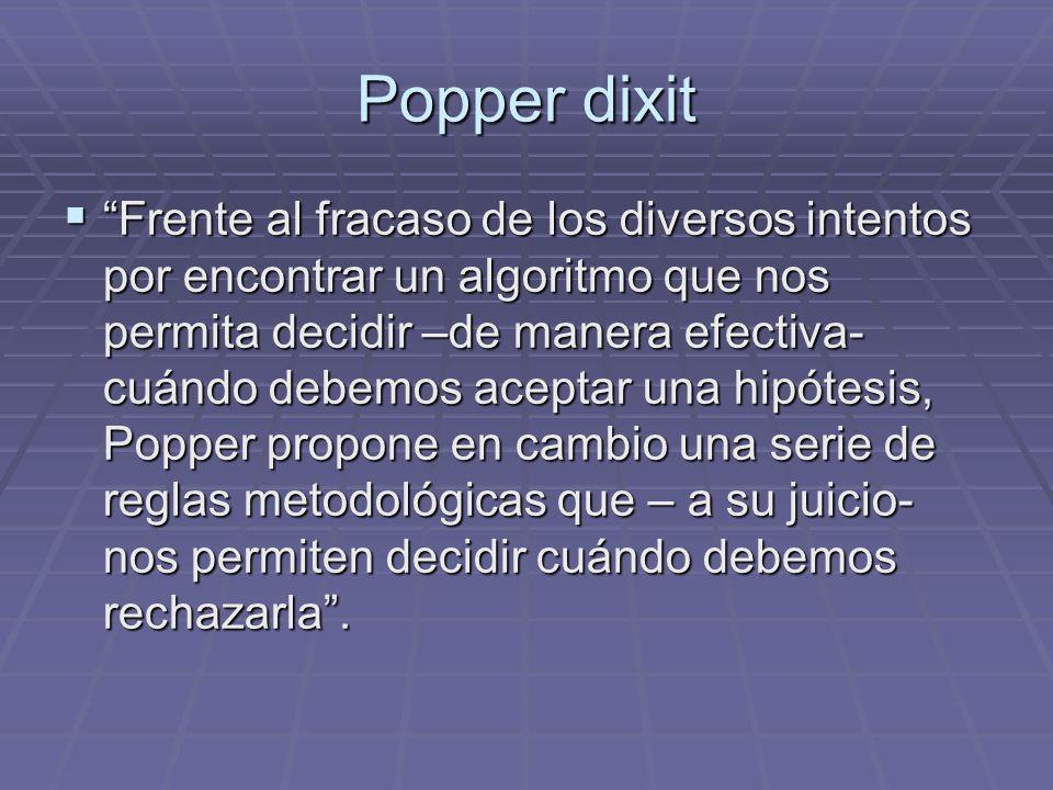 Popper dixit
