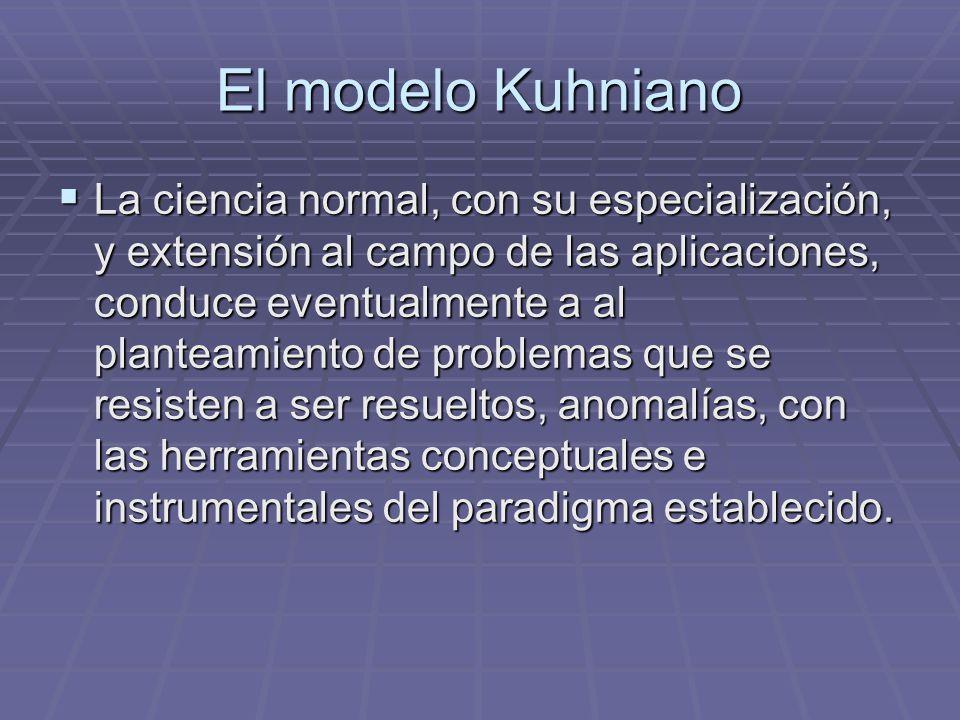 El modelo Kuhniano