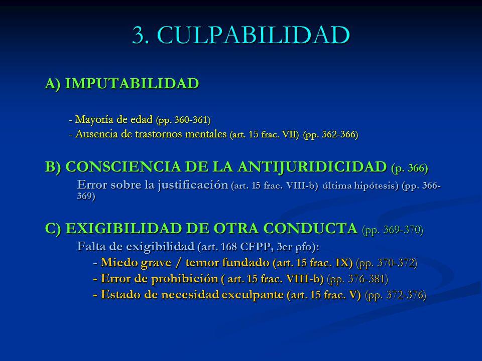 3. CULPABILIDAD A) IMPUTABILIDAD