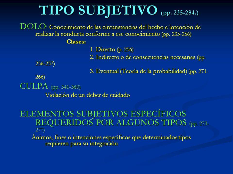 TIPO SUBJETIVO (pp. 235-284.)