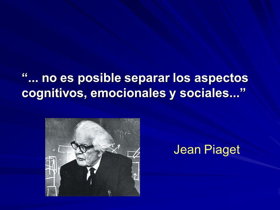 ... no es posible separar los aspectos cognitivos, emocionales y sociales...