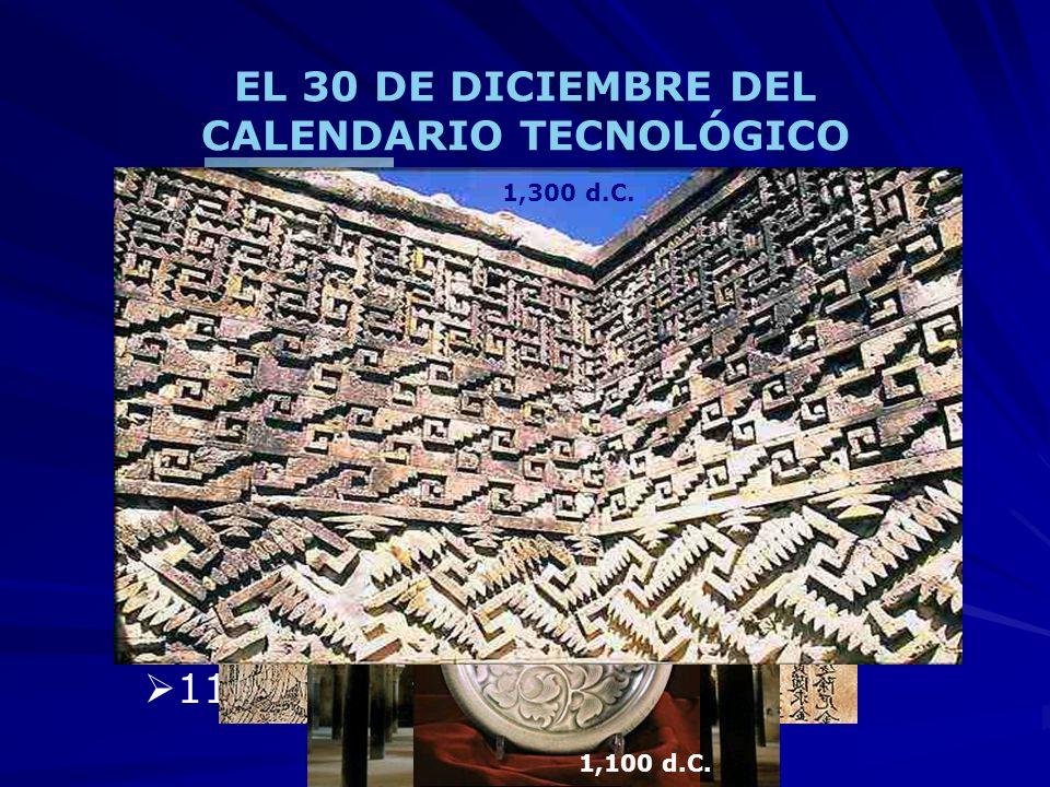EL 30 DE DICIEMBRE DEL CALENDARIO TECNOLÓGICO