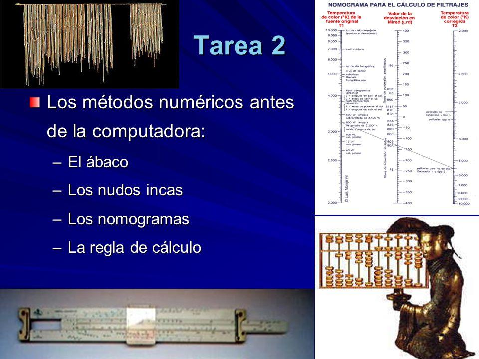Tarea 2 Los métodos numéricos antes de la computadora: El ábaco