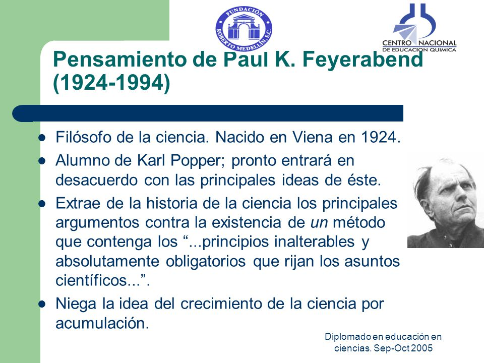 Pensamiento de Paul K. Feyerabend (1924-1994)