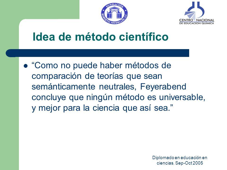 Diplomado en educación en ciencias. Sep-Oct 2005