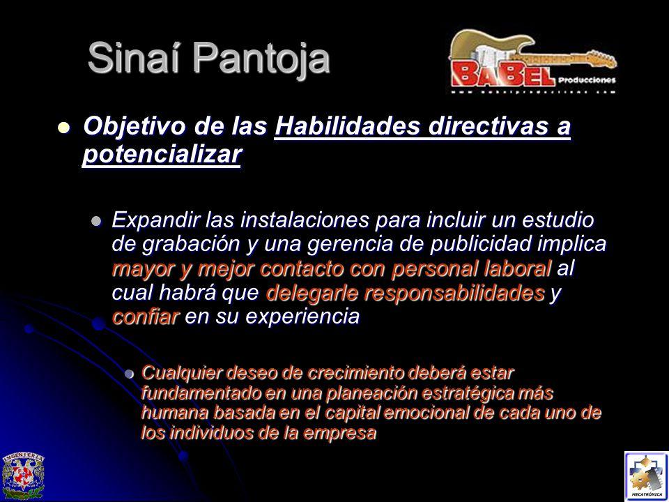 Sinaí Pantoja Objetivo de las Habilidades directivas a potencializar