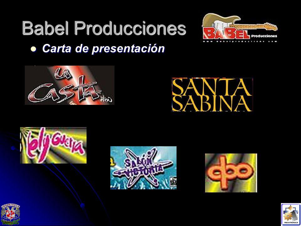 Babel Producciones Carta de presentación