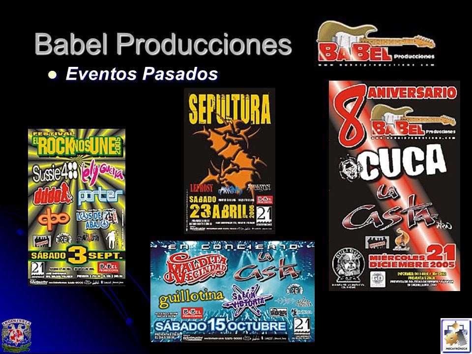 Babel Producciones Eventos Pasados
