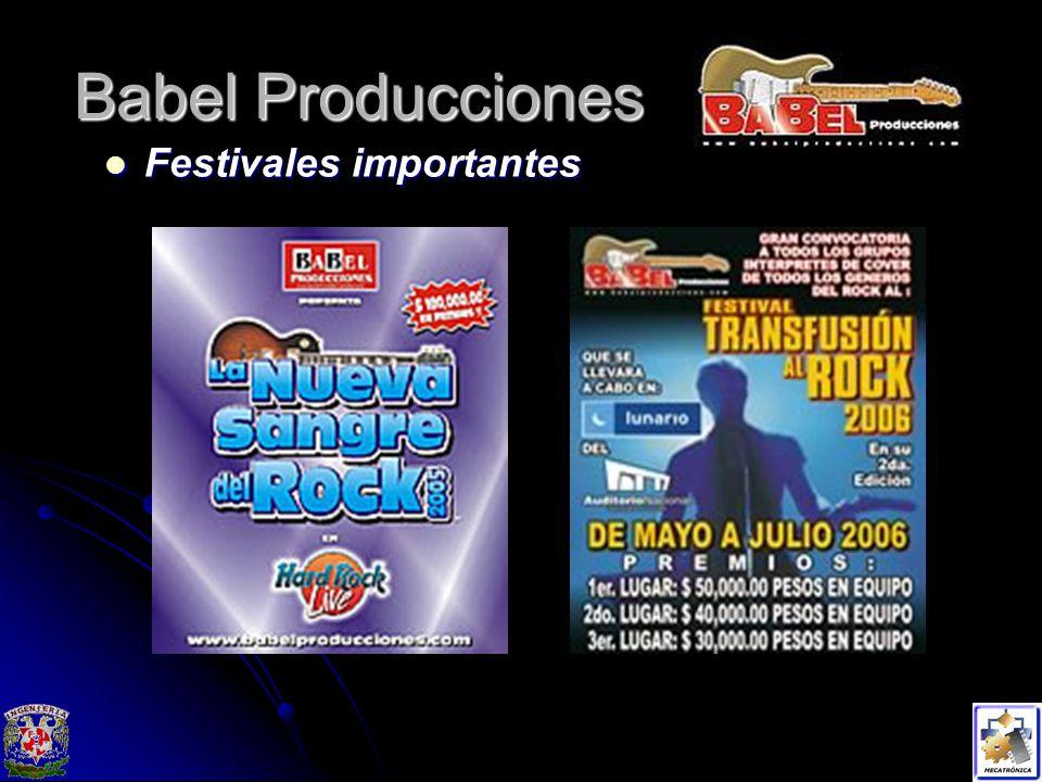 Babel Producciones Festivales importantes