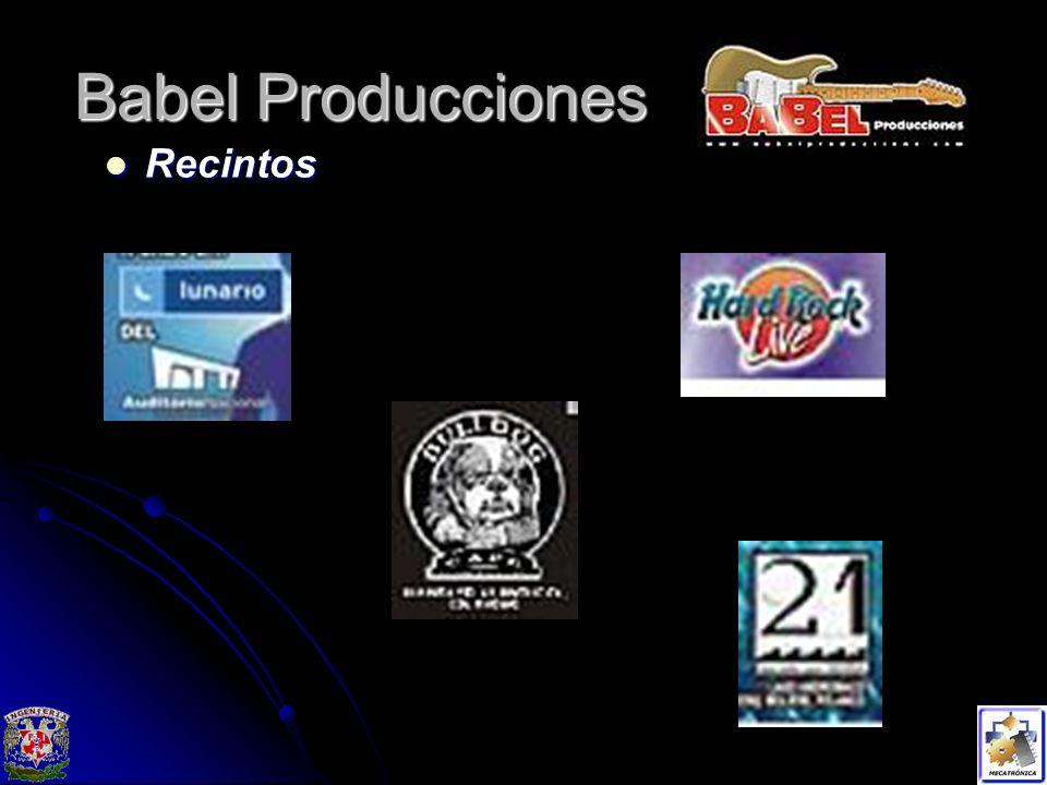 Babel Producciones Recintos