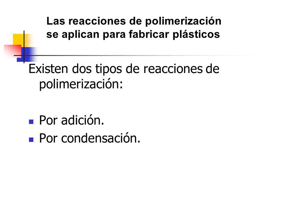 Existen dos tipos de reacciones de polimerización: