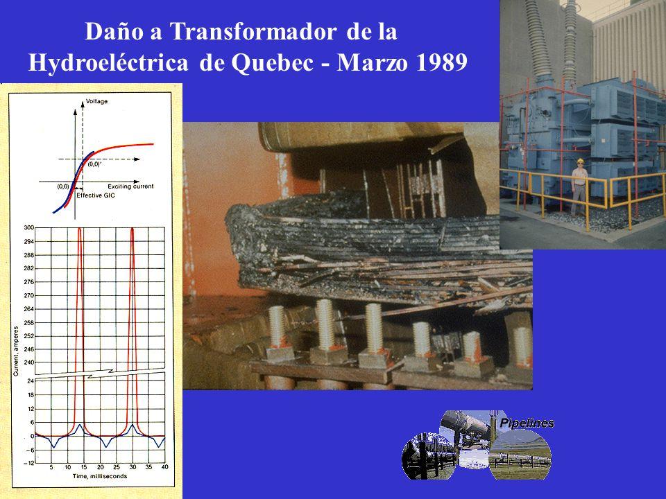 Daño a Transformador de la Hydroeléctrica de Quebec - Marzo 1989