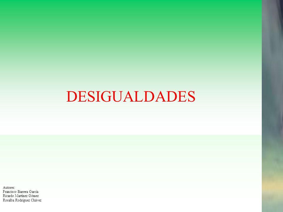 DESIGUALDADES Enero 2007 Autores: Francisco Barrera García