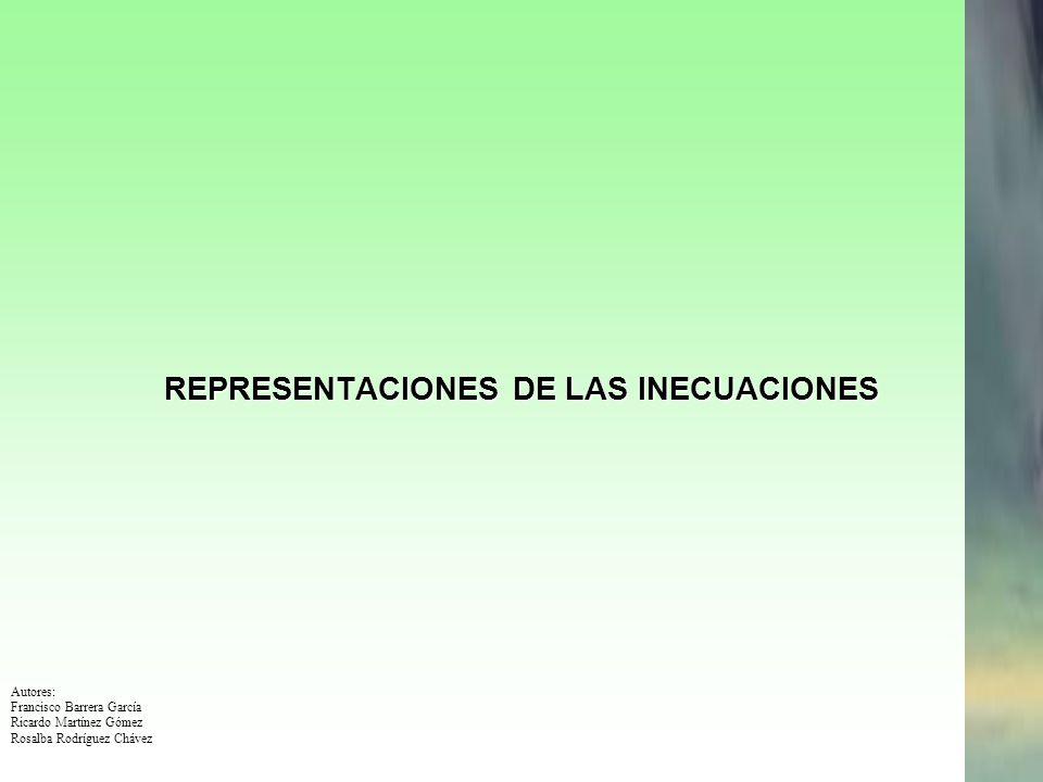 REPRESENTACIONES DE LAS INECUACIONES