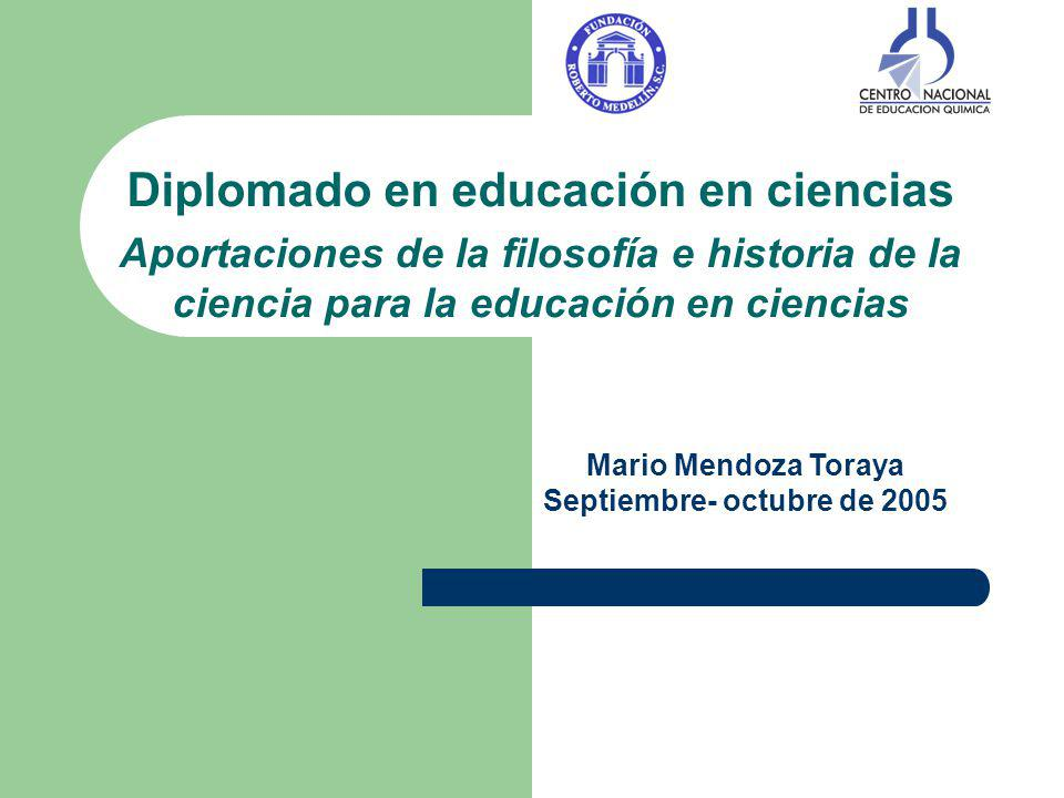 Diplomado en educación en ciencias Septiembre- octubre de 2005