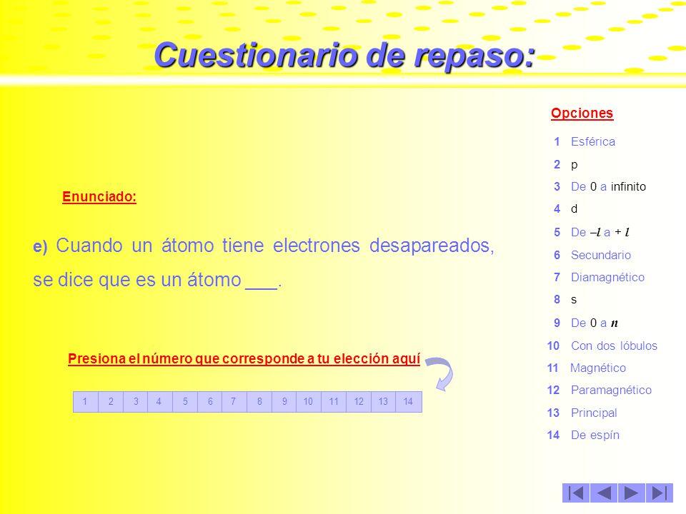 Cuestionario de repaso: