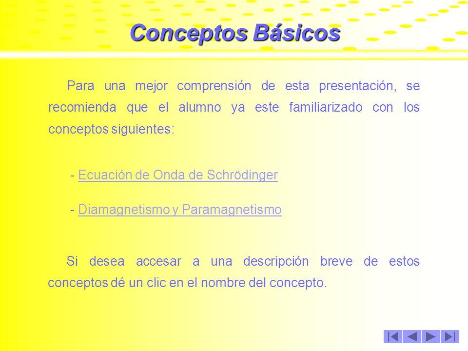 Conceptos Básicos Para una mejor comprensión de esta presentación, se recomienda que el alumno ya este familiarizado con los conceptos siguientes: