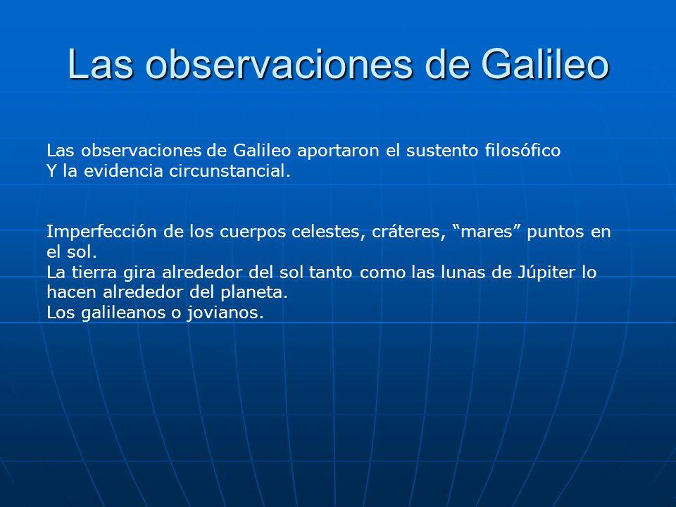 Las observaciones de Galileo