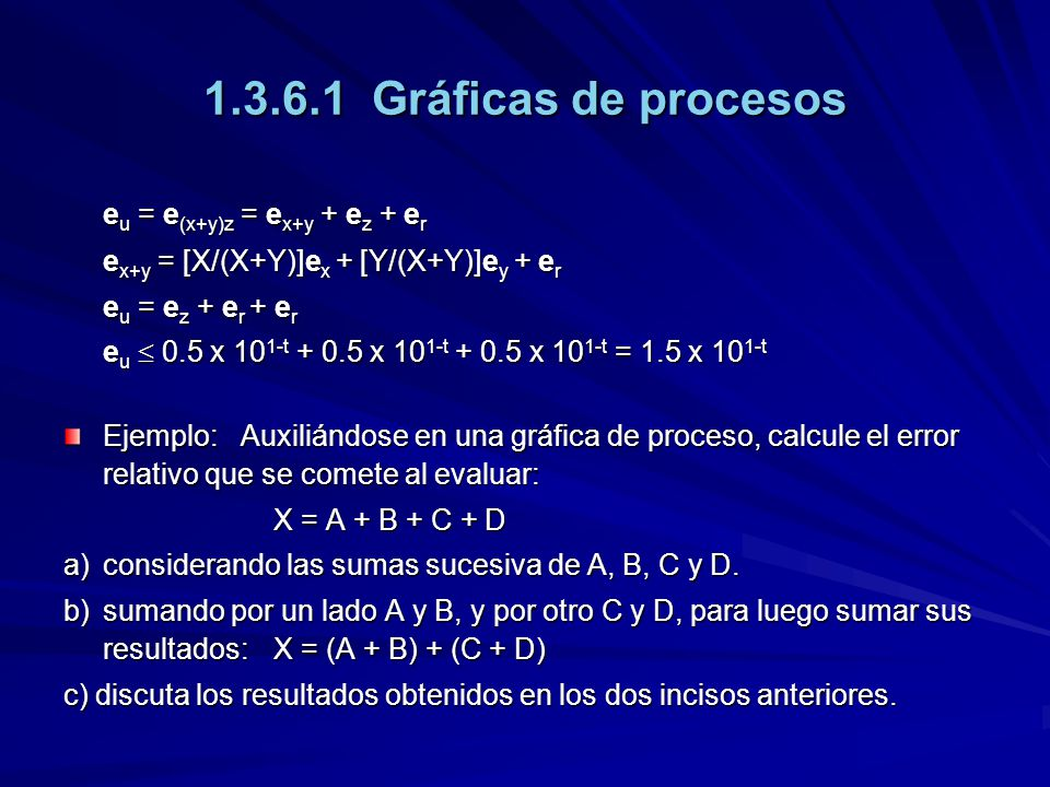 1.3.6.1 Gráficas de procesos eu = e(x+y)z = ex+y + ez + er