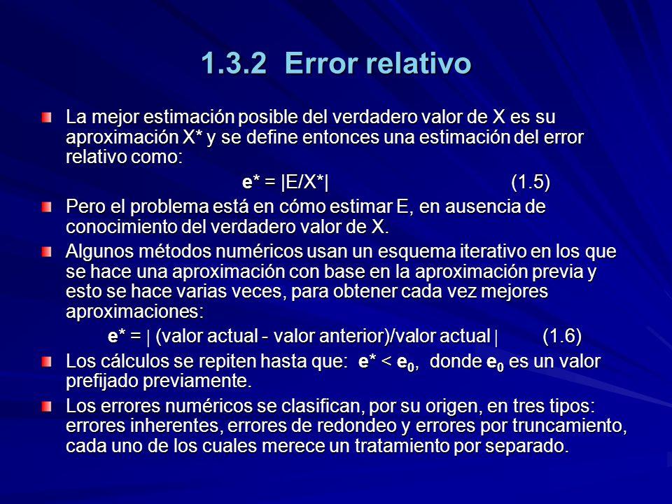 1.3.2 Error relativo