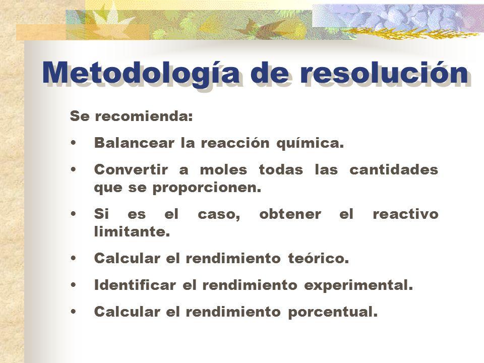 Metodología de resolución