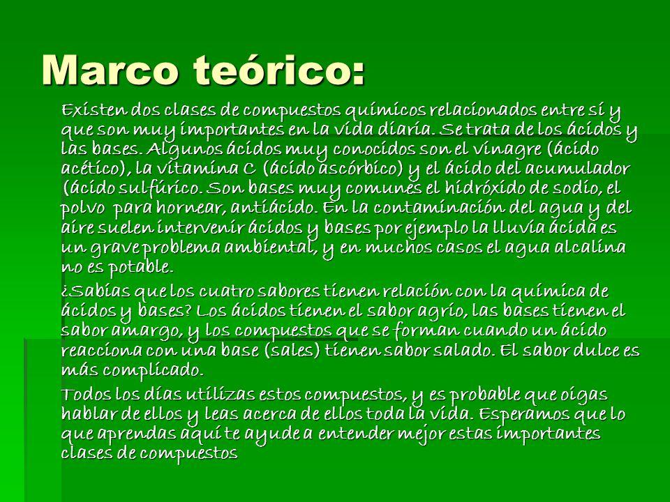 Marco teórico: