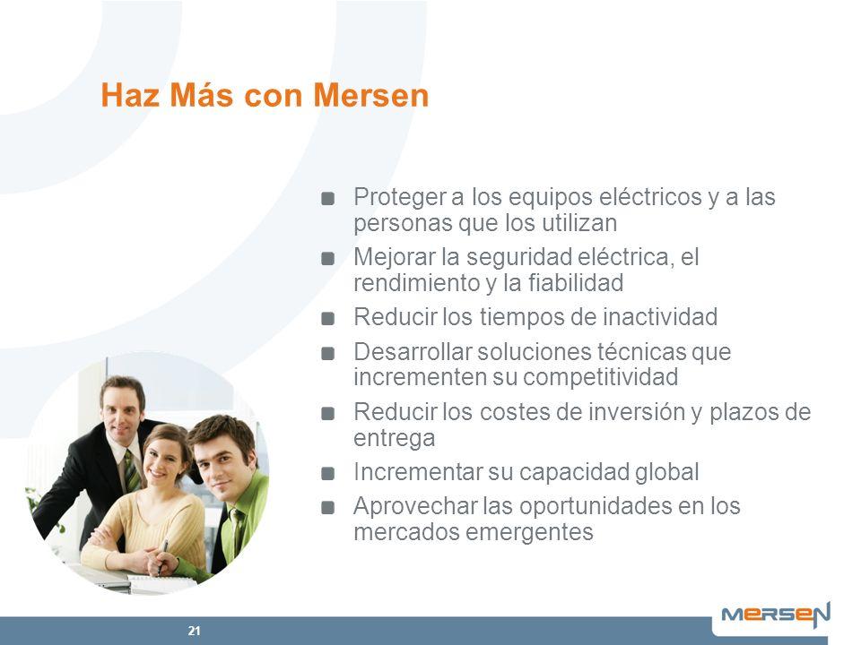 Haz Más con Mersen Proteger a los equipos eléctricos y a las personas que los utilizan.