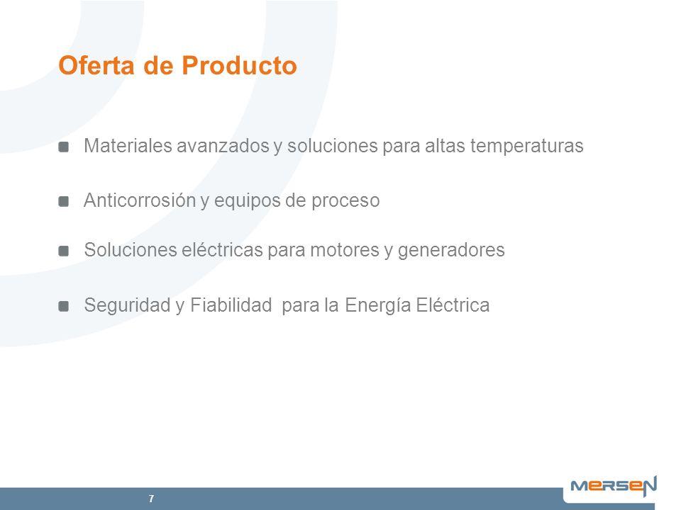 Oferta de ProductoMateriales avanzados y soluciones para altas temperaturas. Anticorrosión y equipos de proceso.