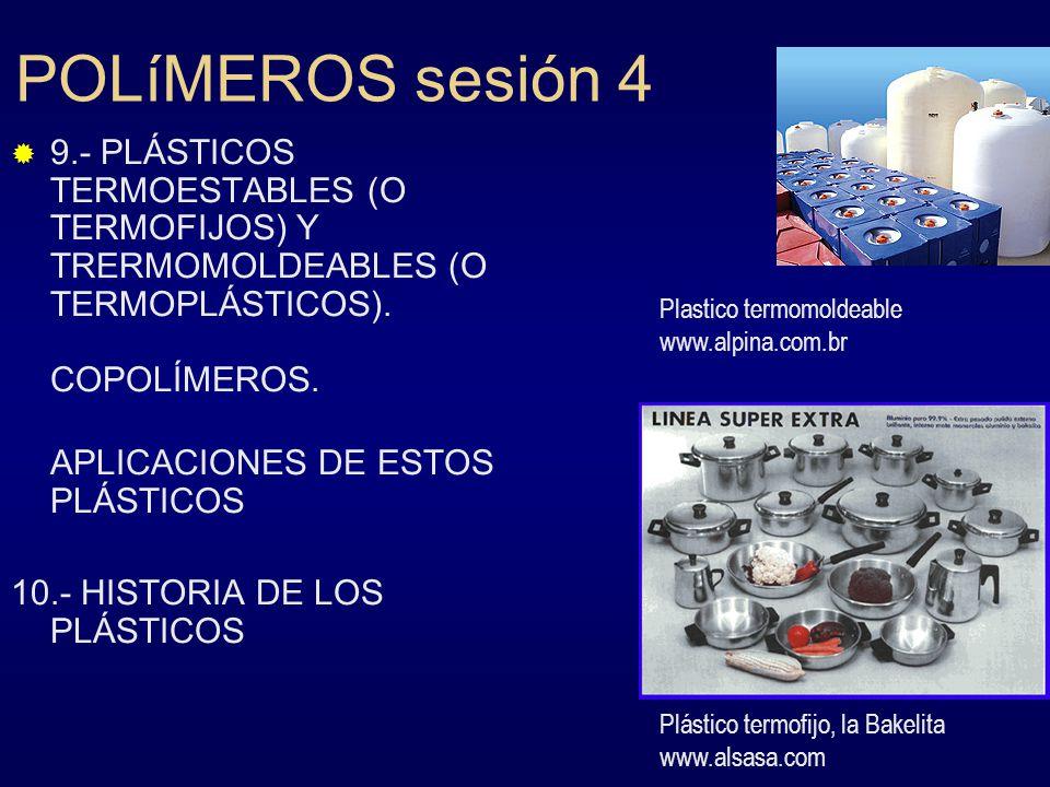 POLíMEROS sesión 4 Plastico termomoldeable www.alpina.com.br