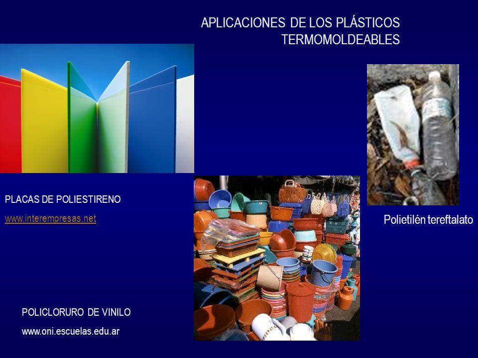 APLICACIONES DE LOS PLÁSTICOS TERMOMOLDEABLES
