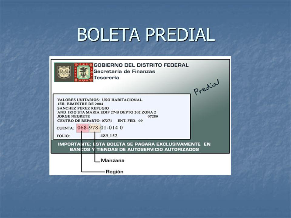 BOLETA PREDIAL