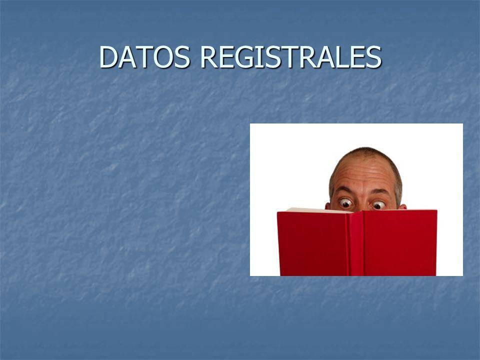 DATOS REGISTRALES