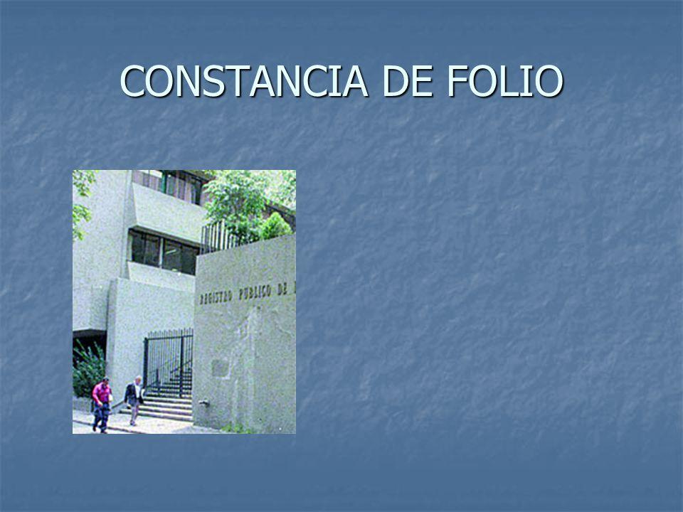 CONSTANCIA DE FOLIO