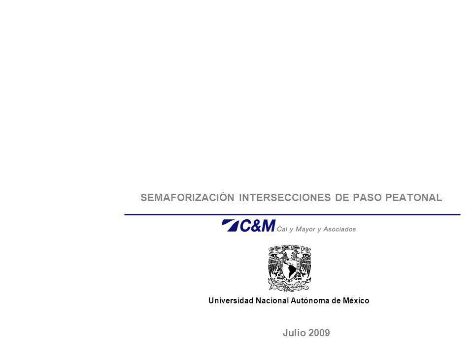 SEMAFORIZACIÓN INTERSECCIONES DE PASO PEATONAL