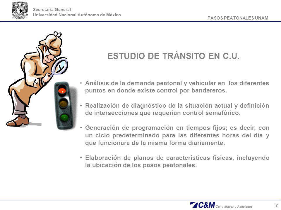 ESTUDIO DE TRÁNSITO EN C.U.