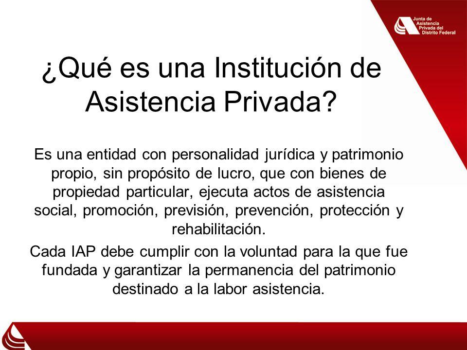 ¿Qué es una Institución de Asistencia Privada