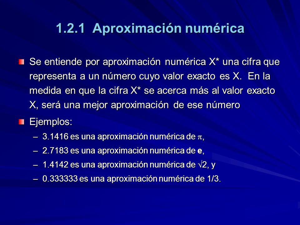 1.2.1 Aproximación numérica