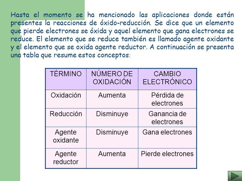 Ganancia de electrones