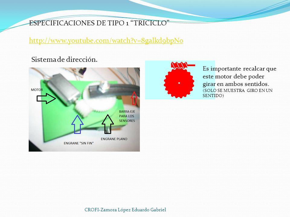 ESPECIFICACIONES DE TIPO 1 TRICICLO