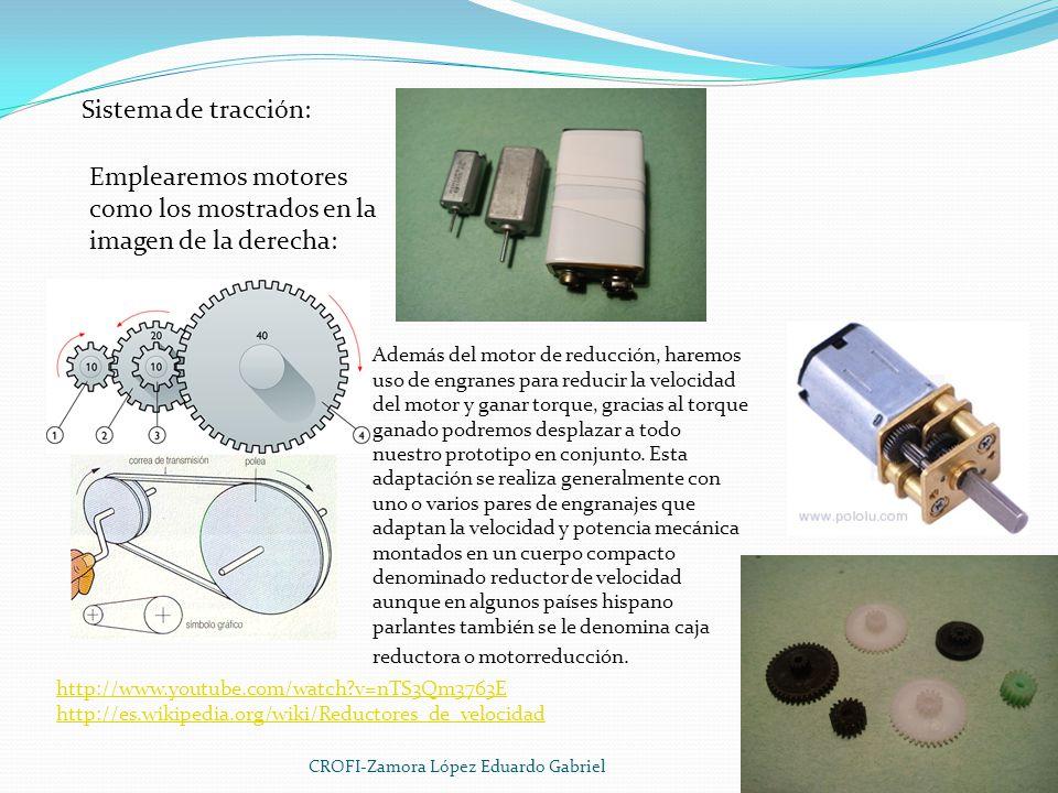 Emplearemos motores como los mostrados en la imagen de la derecha: