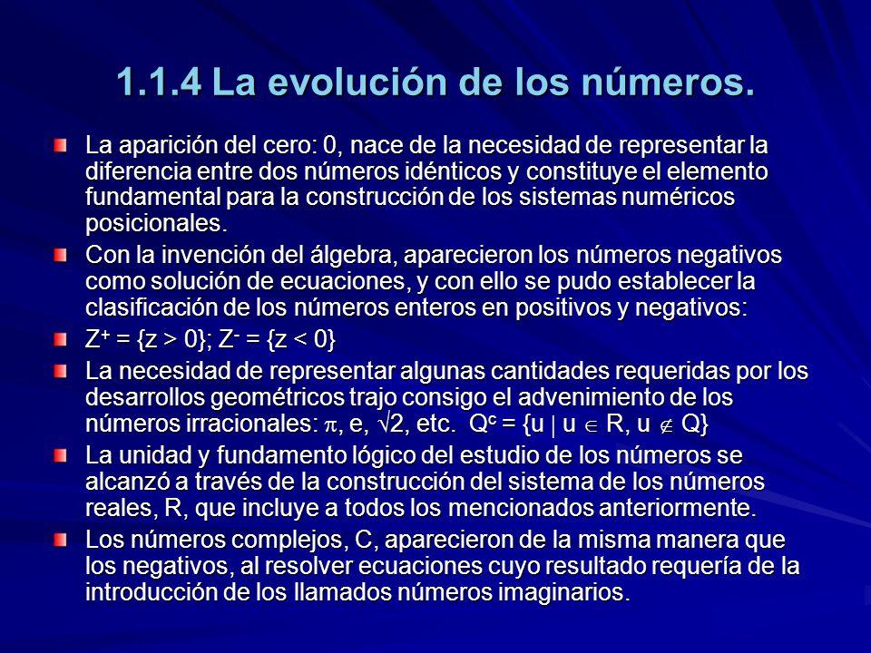 1.1.4 La evolución de los números.