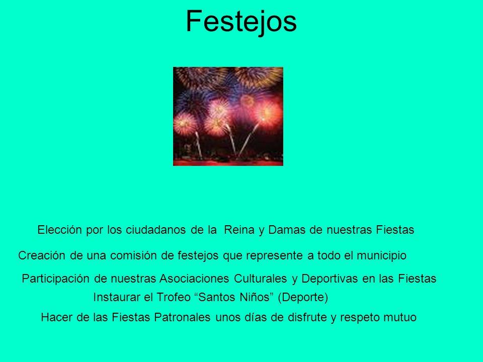 FestejosElección por los ciudadanos de la Reina y Damas de nuestras Fiestas.