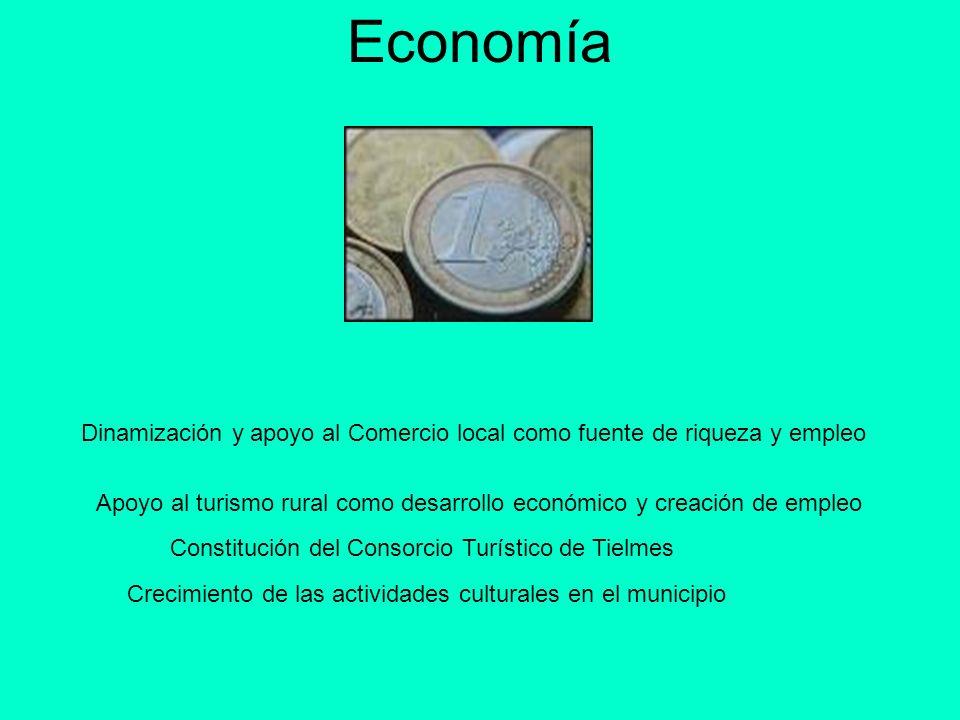 EconomíaDinamización y apoyo al Comercio local como fuente de riqueza y empleo.