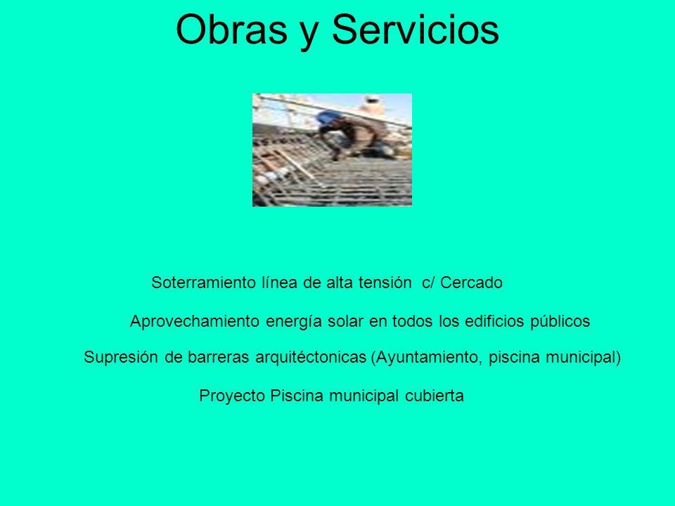 Obras y Servicios Soterramiento línea de alta tensión c/ Cercado