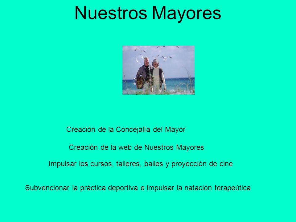 Nuestros Mayores Creación de la Concejalía del Mayor